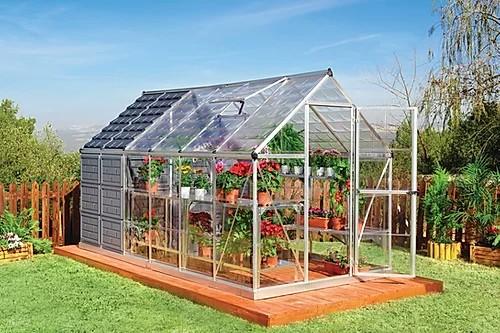 חממות ביתיות משולבת מחסן לגינה