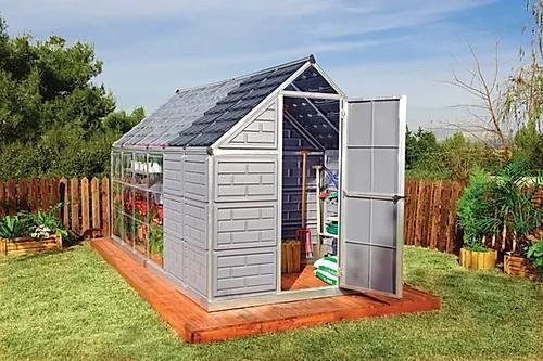 חממה ביתית משולבת מחסן צד מחסן